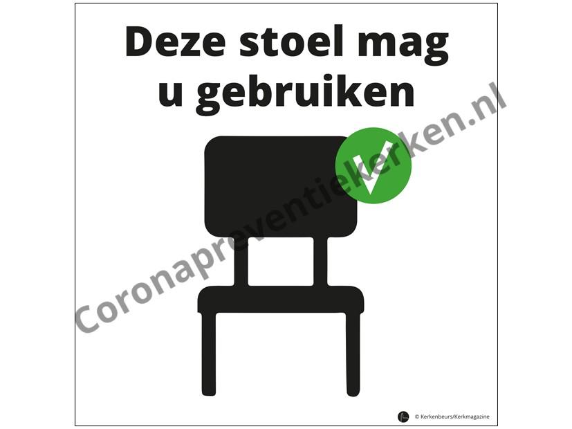 Sticker Deze stoel mag u gebruiken