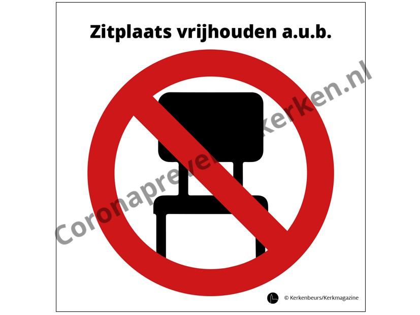 Sticker zitplaats vrijhouden