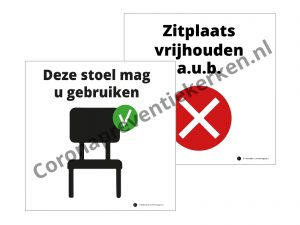 Kaartenset zitplaats wel niet gebruiken